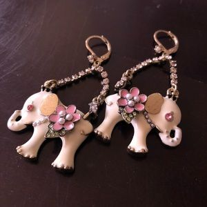 Betsey Johnson Elephant Earrings